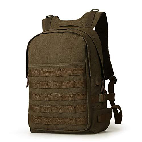 CXQ Mode-Trend Retro Männer Rucksack Leinwand Rucksack Student Bag Casual Computer Rucksack Reisetasche (Color : Green)