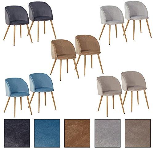 "Estexo® Esszimmerstuhl Modell ""Brigitte"", Retro Esszimmerstühle, Set, Stühle, Stuhl, Stuhlgruppe, Küchenstühle (Anthrazit, 4)"