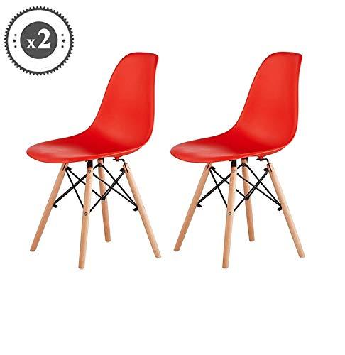 Generic Esszimmerstühle/Esszimmerstühle / Sitzbeine/Sitzbeine / Sitzbeine im Retro-Look, Rot/Modren