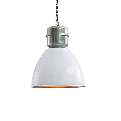 Industrie Hängeleuchte FACTORY L 40cm weiß Used Look Industrielampe Industrieleuchte Pendelleuchte Esszimmer Beleuchtung Hängelampe