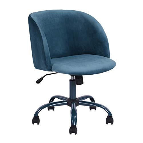 Innovareds Bürostuhl Drehstuhl Schreibtischstuhl Samt höhenverstellbar Esszimmerstuhl/Bürostuhl mit Rückseite/Arm Support–Blau