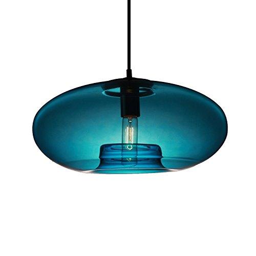 KJLARS Vintage Pendelleuchte Ministil Pendellampe Glas Kugel Hängeleuchte Glaslampe Kugellampe für Wohnzimmer Esszimmer Schlafzimmer