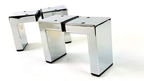 Knightsbrandnu2u Möbelfüße aus Metall, verchromt, für Sofas, Stühle, Hocker, vorgebohrt, CWC1031