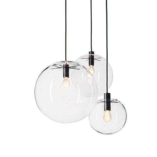 MZStech Sphärische Klassische Glas Pendelleuchte Kreative Einzigen Lichtkopf Glas Lampe, Deckenleuchte Basis E27 Birne