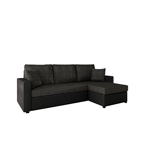 Mirjan24  Ecksofa mit Schlaffunktion und Bettkasten Picanto Lux! Maße: 224x144 cm, Schlaffläche: 200x130 cm, Sofa Eckcouch Couch Couchgarnitur Wohnlandschaft! (Soft 011 + Lawa 06)