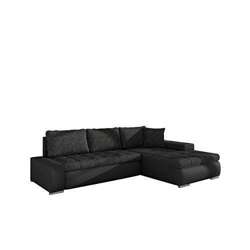 Mirjan24  Elegante Sofa Orkan Mini mit Schlaffunktion und Bettfunktion, Eckcouch Ecksofa mit Bettkasten, Couch L-Sofa Große Farbauswahl, Qualität (Soft 011 + Lawa 06)