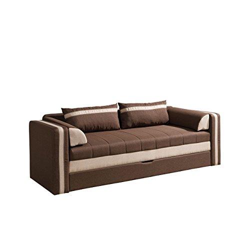 Mirjan24  Schlafsofa Euforia, Couch mit Bettfunktion, Polstersofa mit Bettkasten und Schlaffunktion, Bettsofa, (Lux 12 + Lux 24)