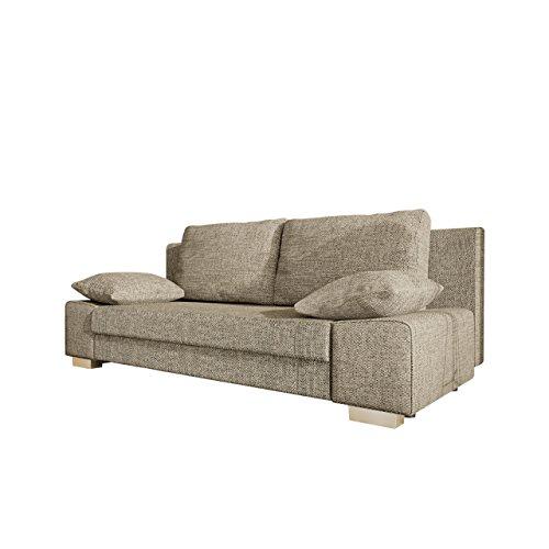 Mirjan24  Schlafsofa Laura, Couch mit Bettkasten und Schlaffunktion, freistehendes Schlafcouch, Couchgarnitur, Bettfofa, Sofa vom Hersteller (Lawa 02)