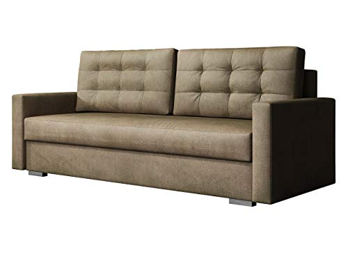 Mirjan24  Schlafsofa Selvio, Sofa Couch mit Schlaffunktion, Bettkasten, Bettsofa, Farbauswahl, Wohnzimmer, Modern Still (Paros 3)
