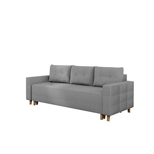 Mirjan24  Schlafsofa Sola ! Couch Sofa mit Bettkasten, Schlaffunktion, Wohnzimmer, Funktionsofa, Modern Still Polstersofa (Inari 91)