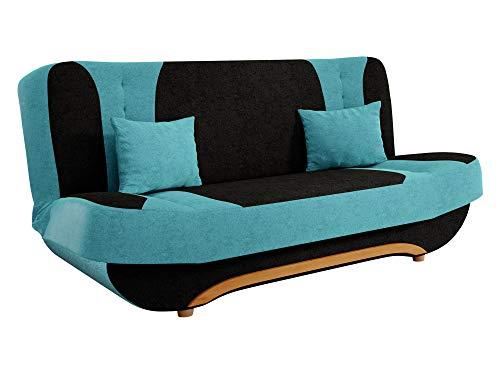 Mirjan24  Sofa Pinto mit Bettkasten und Schlaffunktion, Schlafsofa, Farb- und Materialauswahl, Wohnlandschaft, Couch vom Hersteller, Schlafcouch (Alova 04 + Alova 29)