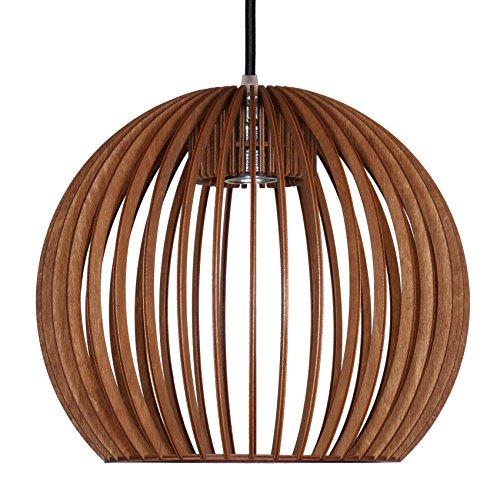 Pendelleuchte BOLA aus Holz - Moderne Designer Deckenleuchte - 8 Farben erhältlich -