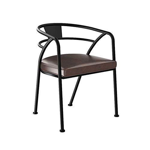 SED Stuhl - Lounge Chair Eisen Konferenzstuhl Esszimmerstuhl Lederstuhl Creative Stuhl Retro Style Adult Home Hocker,55 * 58 * 70 cm