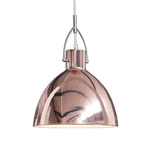 Stylische Hängeleuchte LEXINGTON L kupfer Industrial Design Industrieleuchte Pendelleuchte E27 Kupferlampe Industrielampe