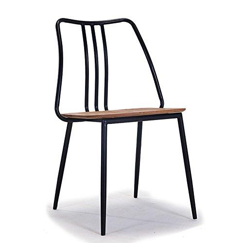 XIAOLIN- Modernes minimalistisches Stuhl-festes Holz-Retro- Eisen, das Stuhl-Stuhl-hintere Café-Tabellen und Stühle speist ( Farbe : C )