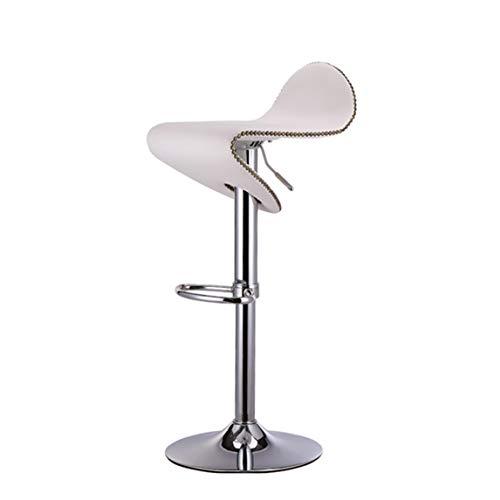 YeHuiTai Sesselbahn Barhocker Mode Hochstuhl Vorderschreibtisch Retro Barhocker (Farbe : Weiß)