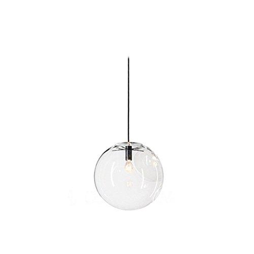 wings of wind® Glaskugel Lampenschirm E27 Pendelleuchte Kronleuchter Transparent Droplight Hängelampe Schwarz Lampenfassung