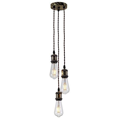 Splink Retro Deckenleuchte Industrie 8-Flammig Antik Deckenslampe mit 8 Edison E27 Lampenfassung Deckenbeleuchtung für Wohnzimmer Kinderzimmer Bar Cafe