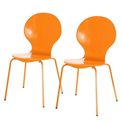 2x Esszimmer Stuhl Holzstuhl Stuhlset Holz Küchenstuhl stapelbar Küche Stühle Stapelstuhl