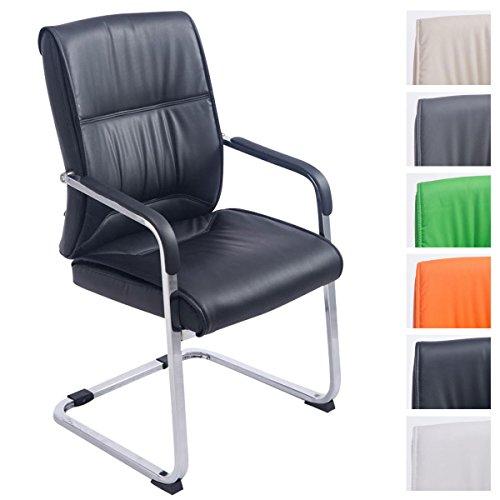 CLP XXL-Freischwinger Anubis mit Kunstlederbezug und Gepolsterter Sitzfläche I Pflegeleichter Konferenzstuhl mit Armlehne