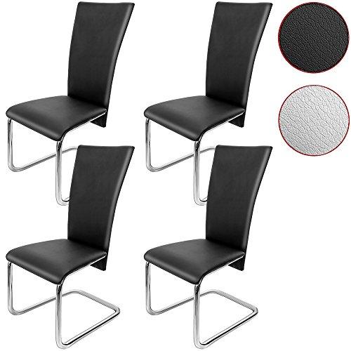 Deuba 4er Set Freischwinger Esszimmerstuhl - Stühle Sitzgruppe Esszimmer Stuhl