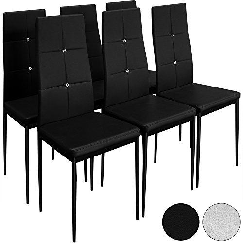Deuba 6 Esszimmerstühle Stuhl Hochlehner Polsterstuhl Sitzgruppe Essgruppe Esszimmerstuhl