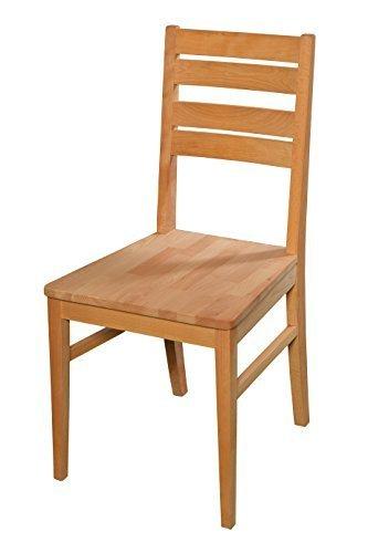Esszimmerstuhl aus Buche massiv ✓ Geölt ✓ Extrem robust | Holzstuhl für Küche & Esszimmer | Rustikaler Esstisch-Stuhl, Massivholz-Stuhl, Küchenstuhl aus Buche