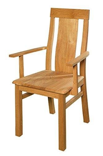 Esszimmerstuhl aus Eiche massiv ✓ Geölt ✓ Extrem robust ✓ Ergonomisch geformt | Holzstuhl für Küche & Esszimmer | Rustikaler Esstisch-Stuhl, Massivholz-Stuhl, Küchenstuhl aus Eiche