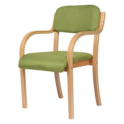 JH Holz-Stuhl Wohnzimmerstuhl Esszimmerstuhl Bürostuhl 53 * 50 * 85CM Grün