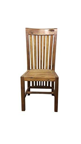 SAM® Stilvoller Esszimmerstuhl Imke aus Akazie-Holz, Stuhl in zeitlosem Design, naturbelassene Optik, individuelle Maserung, Unikat für Ihr Wohnzimmer, Esszimmer, Küche