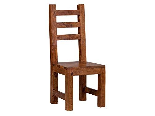massivum Esszimmer-Stuhl Cubus 46x100x46 cm aus massiven Palisander-Holz braun gewachst Holzstuhl