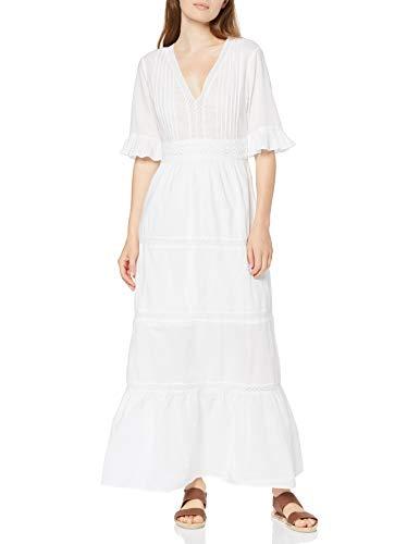 Amazon-Marke: find. Damen Maxi-Boho-Kleid aus Spitze
