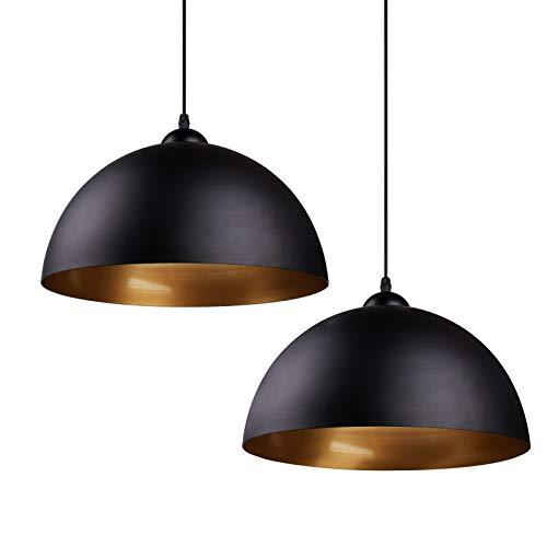 Design 2x Industrielle Vintage LED Pendelleuchte Hängeleuchte Φ 30cm für E27 Leuchtmittel, für Wohnzimmer Esszimmer Restaurant Keller Untergeschoss usw.