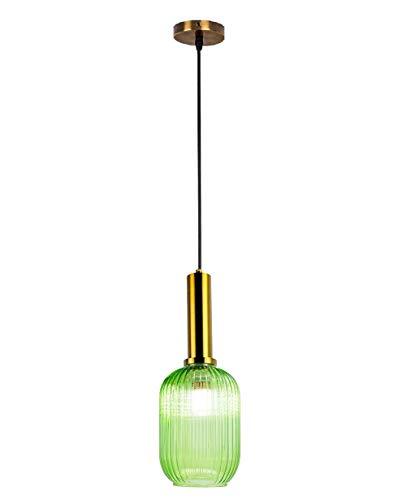 Glas Pendelleuchte, Nordic Post-Modern Kronleuchter Restaurant Kronleuchter Bett Glas Lampenschirm Retro Beleuchtung Einfache Bar Lampen