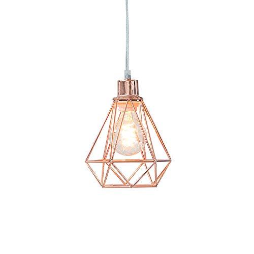 Invicta Interior Moderne Hängeleuchte CAGE Farbwahl Hängelampe Lampe Leuchte Licht schwarz Kupfer