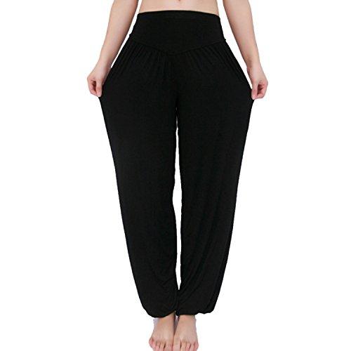 MEISHINE® Damen Modal Elastisch Haremshose Pluderhose Pumphose Ideal für Sport Yoga Tanz Jogging Dance