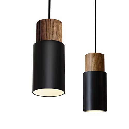 Matiere Pendelleuchte Vintage Hängelampe Hängeleuchte Retro Lampenschirm Industrial für E27 Leuchtmittel, schwarz und weiß wählbar,für Esszimmer Flur Restaurant Keller Untergeschoss usw. 1 Pack