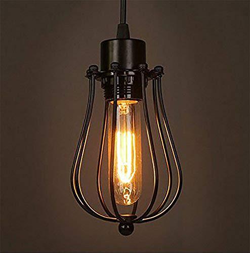 Retro Vintage Hängeleuchte Pendelleuchte Deckenbeleuchtung E27 Fassung für Esstisch, Schlafzimmer,Kaffee-Bar,Leseraum Beleuchtung