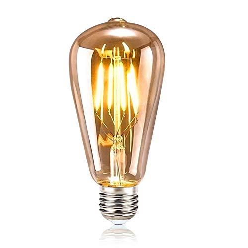 Tronisky Edison Vintage Glühbirne, Warmweiß Glühbirne Vintage Antike Glühbirne Ideal für Nostalgie und Retro Beleuchtung im Haus Café Bar usw