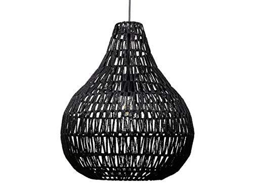 Beliani Moderne Hängelampe aus schwarzem Papiergeflecht Molopo