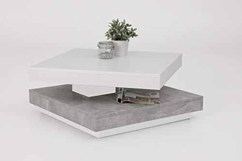 Couchtisch Andy, Holzwerkstoff ,Tischplatte drehbar 360°, quadratisch 67x67x35cm