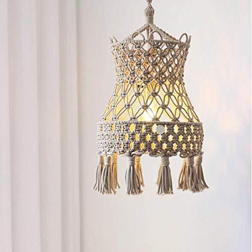 Handgestrickte Lampenschirm Boho hängende Decke Pendelleuchte decken moderne böhmische hängende Leuchte für Wohnkultur oder Party-Dekor