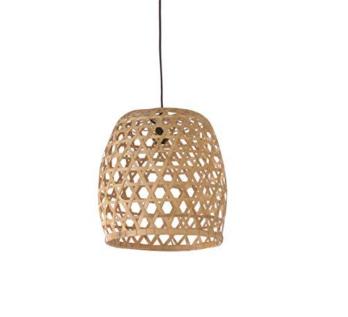 Hängeleuchte aus Bambus geflochten - skandinavisches Design Bohemian Chic - Luz/M