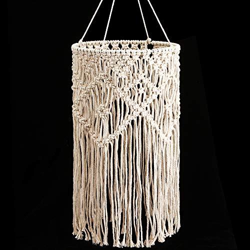 Lampenschirm Decken Leuchte Beschlag für Wohnzimmer, Schlafzimmer und Badezimmer, Warmweiß, Birne nicht Enthalten (Stricken)
