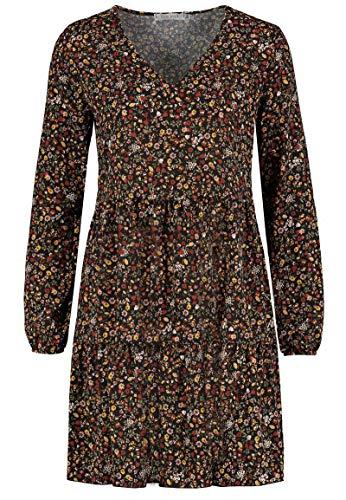 Sublevel Damen Kleid mit Blumen-Muster Langarm Herbst Frühling